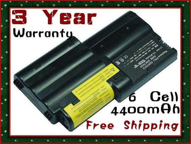 BATTERY FOR IBM ThinkPad T30 02K6572 02K7034 02K7037 + 3 Year Warranty Free Shipping