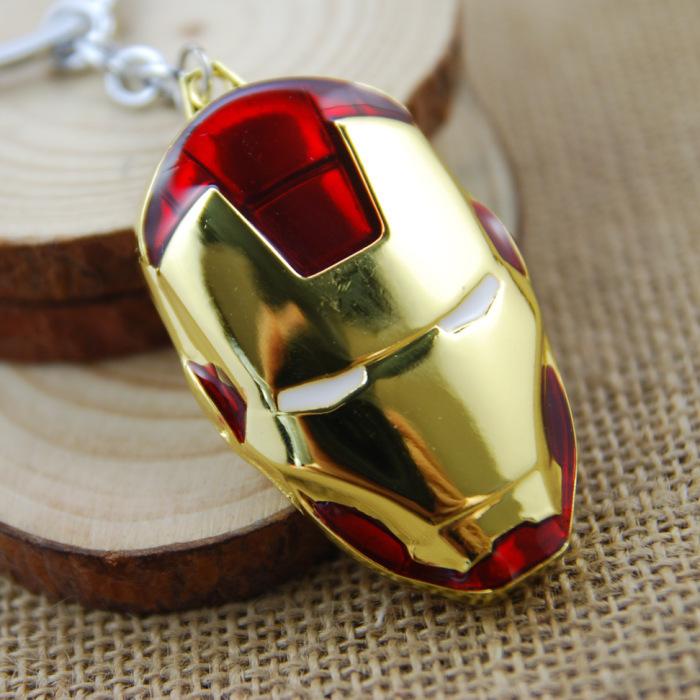 Marvel Super Hero Avengers Iron Man Mask Metal Keychain Pendant Key Chains No.666 - Life YiWu Store No.133313 store