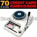 Fast Shipping! 100% Warranty New Manual 70 Code Magnetic ID PVC Plastic Card Embosser Machine,Card Embossing Machine(China (Mainland))