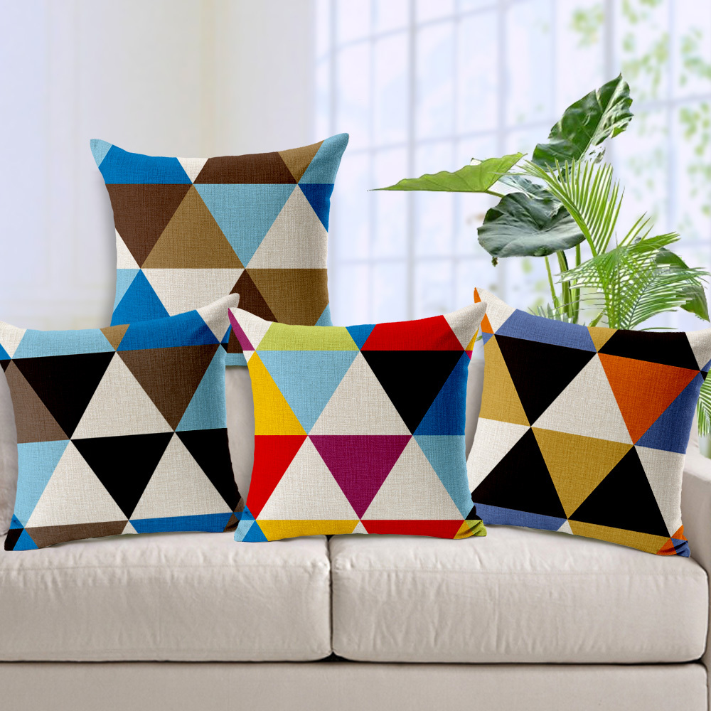 Geometric Decorative Throw Pillow Cushion Cover funda cojin 45*45cm Sofa Bedroom Accessories(China (Mainland))