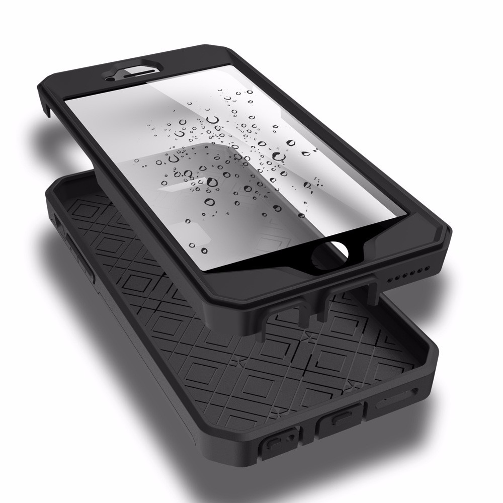 High Quality Explosion-proof Shockproof Surface Waterproof Case for iPhone 6 4.7inch TPU + Plastic Phone Cover Shell
