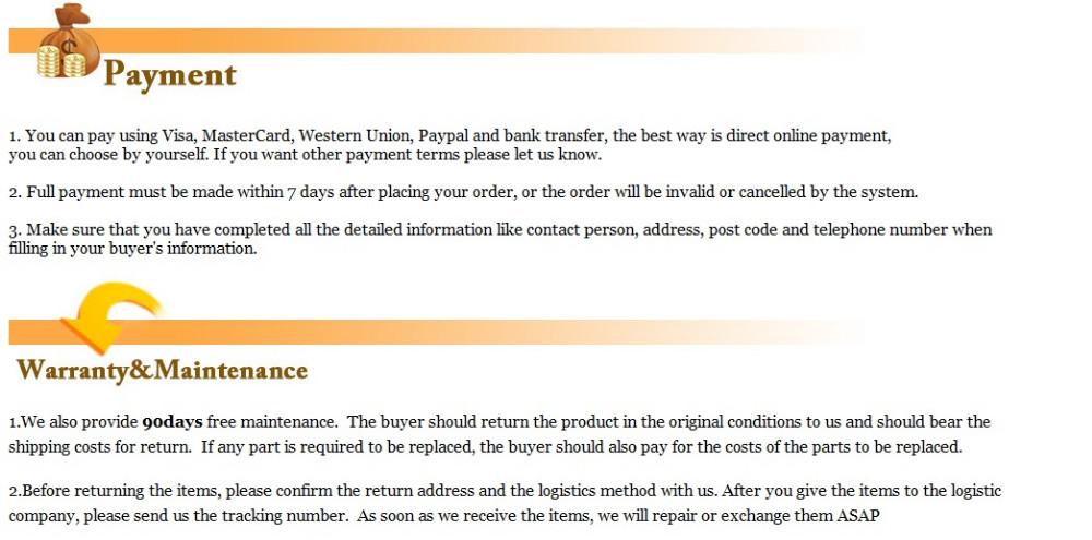 Pay &Warranty