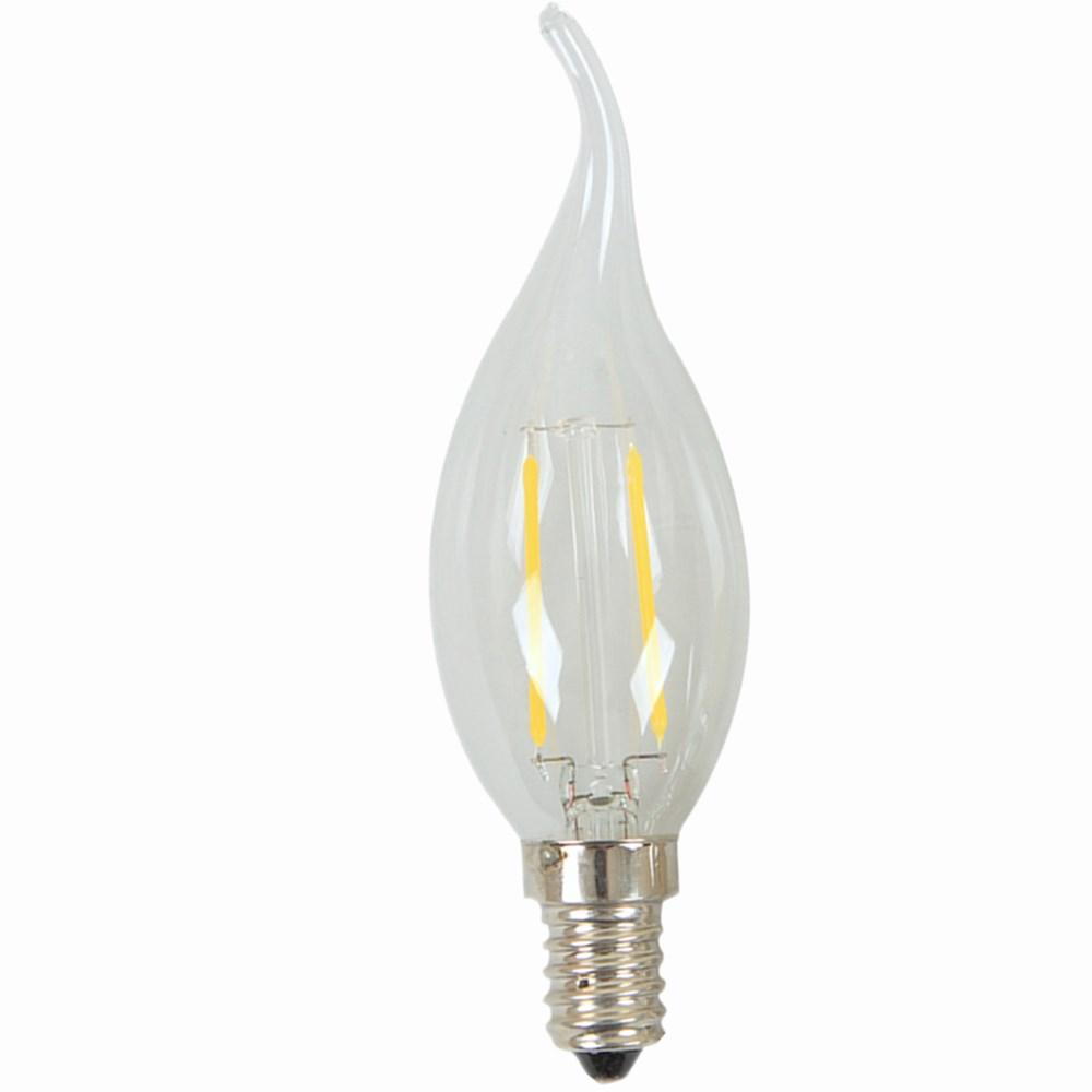 Super Bright New Design E27 E14 C35 220v 230v Glass Edison Bulb Light Led Candle Lamps Retro