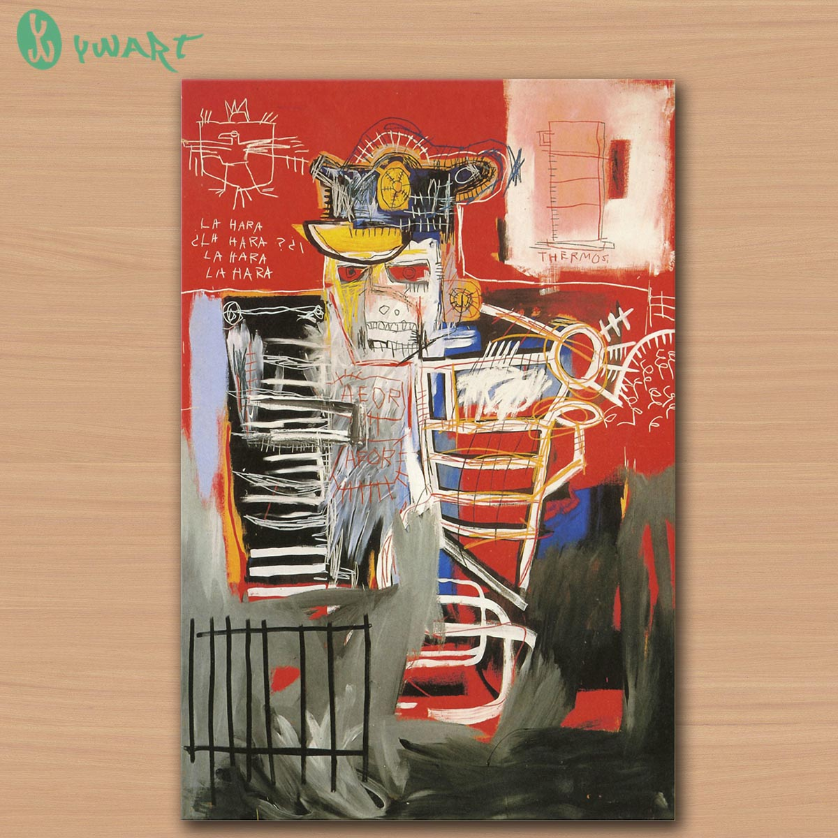 GRAFFITI ART POSTER PRINT ON CANVAS La Hara 1981 BY jean michel basquiat notary-Neo-Expressionism FOR HOME DECORATION(China (Mainland))