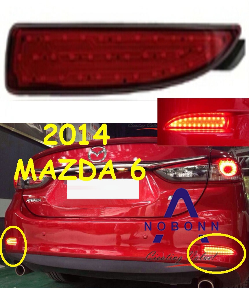 2014 MAZDA 6 LED rear taillight fog light,,8w12v 2pcs/set,Red color,ABS,good!Free ship<br><br>Aliexpress