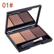 Women Makeup Eyeshadow Palette Eyebrow Eye Shadow Powder Cosmetic 3 Colors Set(China (Mainland))