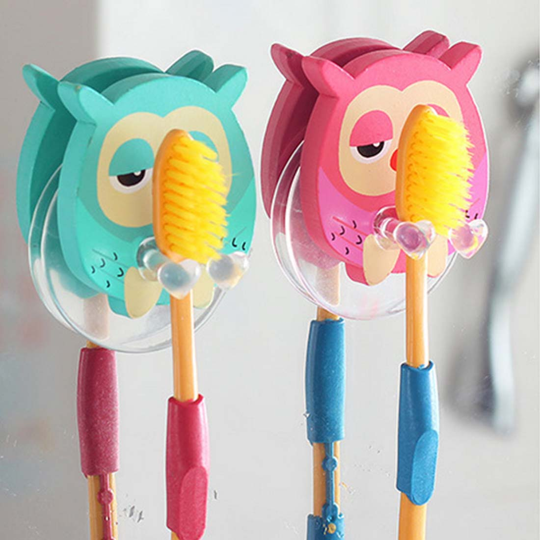 Cute Minion Cartoon Suction Cup Toothbrush Holder Bathroom Accessories 3color