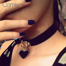 Buy Comiya Fashion Designed Chokers Necklace Women Punk Stylish Heart Shape Pendant Necklaces Sailor Moon Handmade Jewelry for $2.50 in AliExpress store