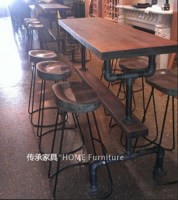 American Loft Estilo Retro Mesas De Bar Bar Cadeiras