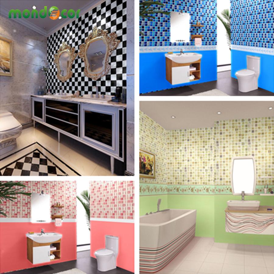 nueva prueba de agua bao de mosaico azulejos de vinilo pvc papel pintado