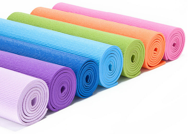 Wholesale 4mm PVC high quality yoga mat for senior type exercise trainer fitness mats(China (Mainland))