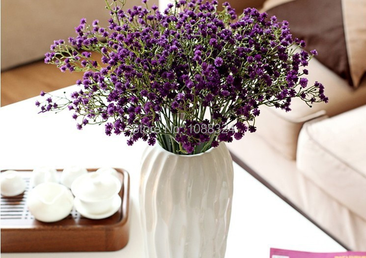 Silk Gypsophilia,Craft fabric flower , Home Decor Wedding Party Event Display real look babysbreath, Product code0408(China (Mainland))