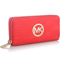 Women Brand Embossing Letter Wallet With Wristlet Ladies Double Zipper PU Leather Purse Clutches Pouch Portefeuille
