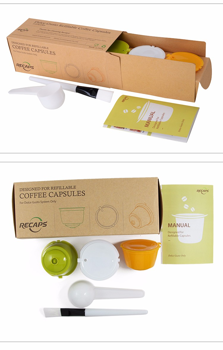 3pcs pack refillable dolce gusto gusto coffee capsule. Black Bedroom Furniture Sets. Home Design Ideas