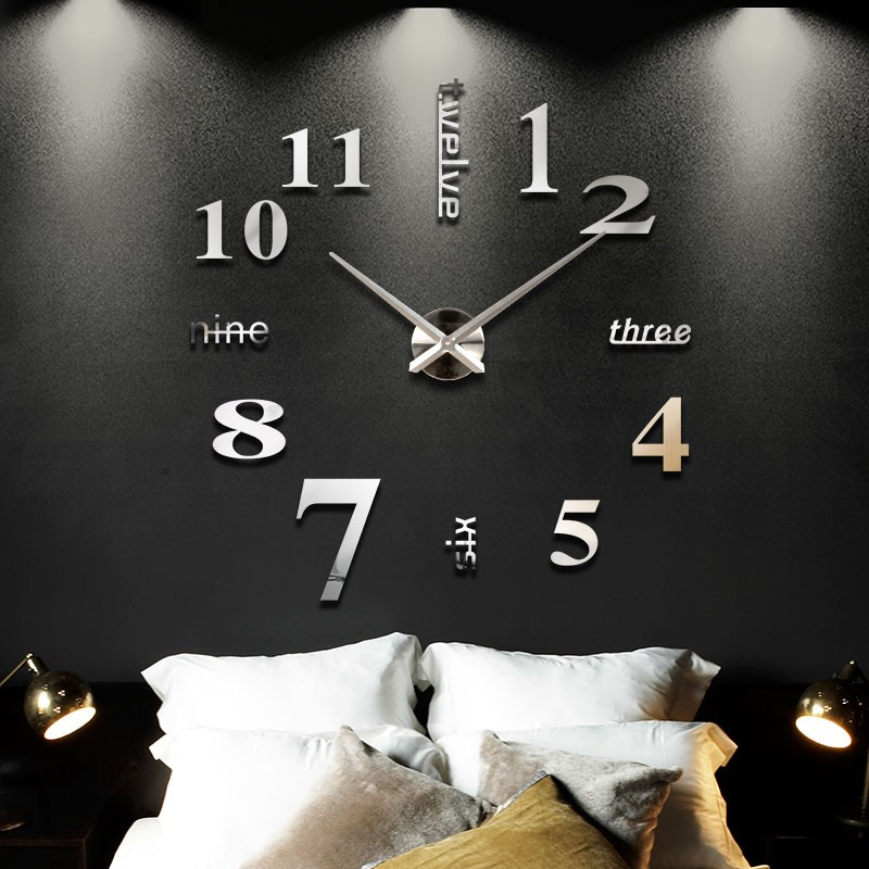 2016-New-Home-decoration-big-mirror-wall-clock-modern-design-3D-DIY-large-decorative-wall-clocks