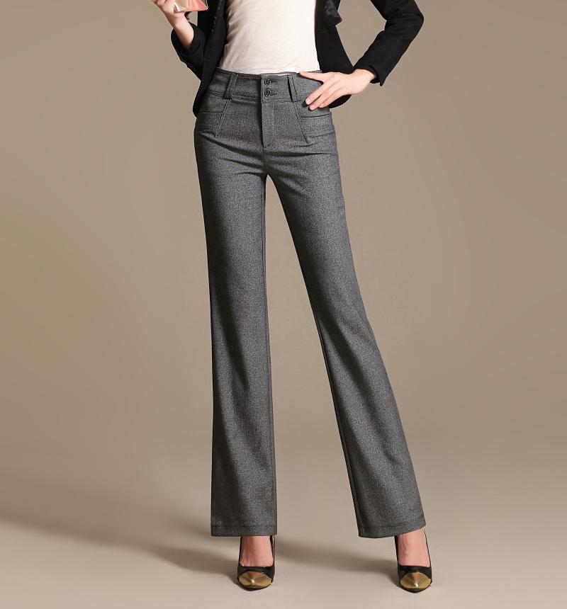 linen pants with elastic waist - Pi Pants