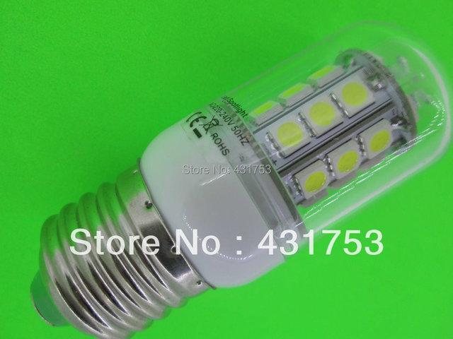 Sale Free Shipping 5PC E27  7W  LED 5050 Corn Light  E27  5050 30 LED Bulb 200V-260V/AC Spot Light Warm White Light Lamp