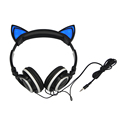 GETIHU Foldable Flashing Glowing cat ear headphones Gaming Headset Earphone with LED light For PC Laptop