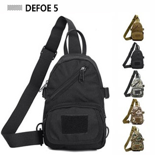 Tactical outdoor small chest pack casual single shoulder bag messenger man fashion all-match brief durable - DEFOE 5 Outdoors store