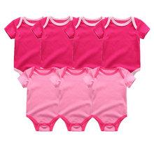 комбинезон детский для новорожденных комбинезон Костюмы 7 шт./лот детские халаты 100% хлопок детей пижама детская для девочек и одежда для мал...(China)