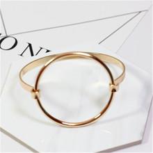 accessories wholesale Minimalism wind circular Ring fashion bangle bracelet Fashion han edition hollow out circle bracelet FF885(China (Mainland))