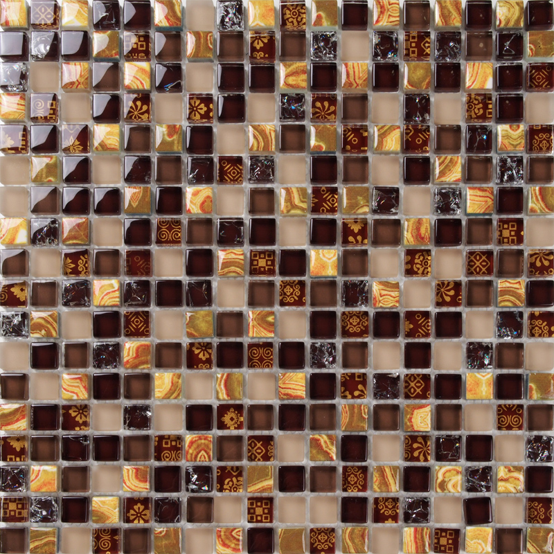 brown crystal glass mosaic tiles EHGM1008C for bathroom shower tiles wall mosaic kitchen backsplash tiles free shipping<br><br>Aliexpress