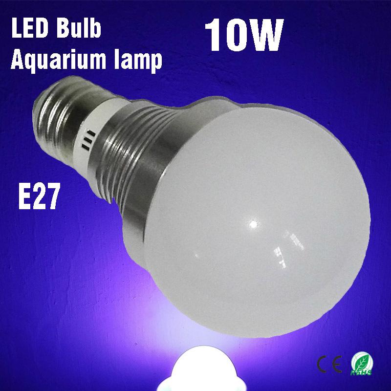 5*2W LED Aquarium Lights, E27 Thick Seiko Aluminum Radiator Fish Tank lighting Bulb 3Blue(450~465nm) & 2White(6000~6500K)(China (Mainland))