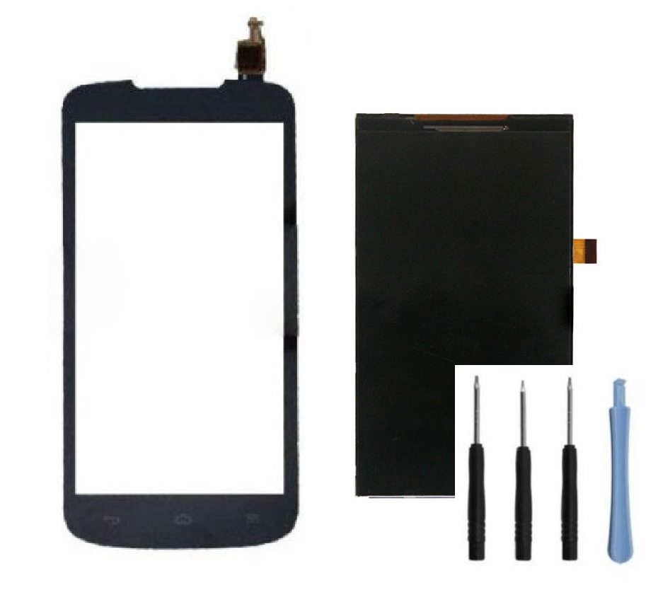 Original Front Top Touch Digitizer Screen Glass + LCD Display for Huawei Ascend Y550 + Sticker + Free Tools(China (Mainland))