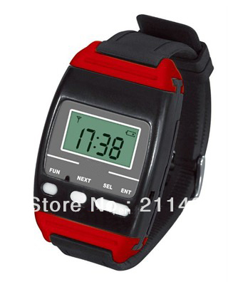 433.92mhz wireless nurse calling system of  1pc watch pager for unrse and 10pcs Call button installed in the hospital bed