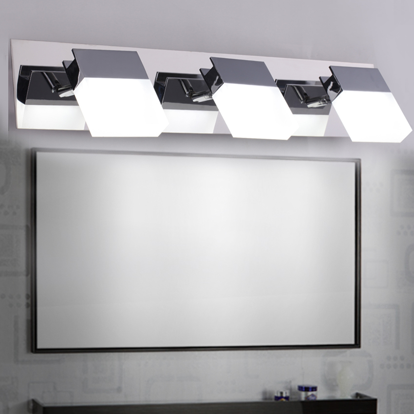 Buy Fashion Stainless Steel Mirror Front Wall Lights Bathroom Make Room Lamps 5050 Smd 40cm 55cm