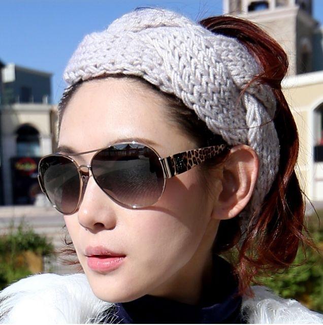 MENG Winter Warm Hair Ornaments Knitting Wool Braids Wide Headband Women Hair Accessories Girl Headwear H07074(China (Mainland))