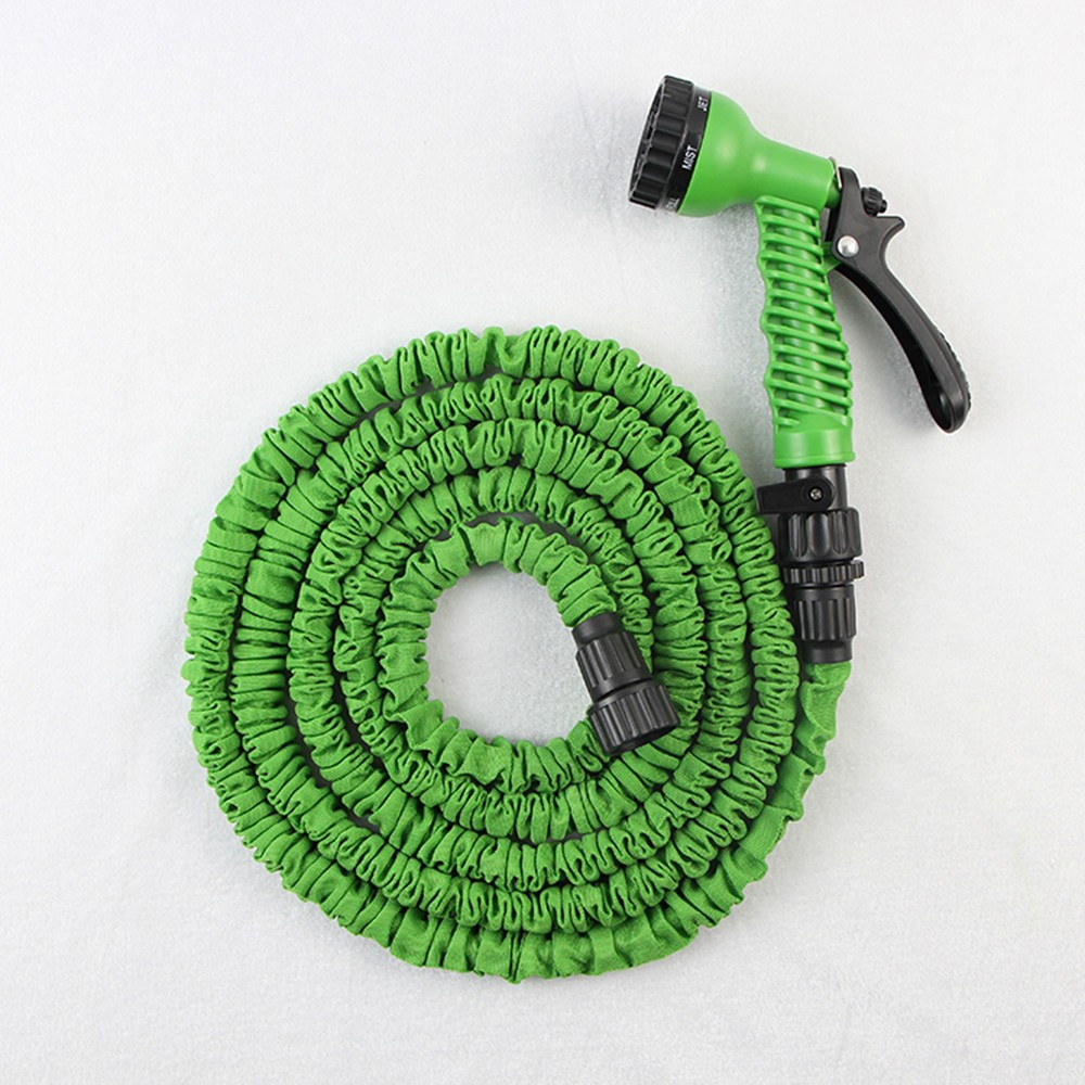 Magic Hose 100ft Garden Water Hose Reel Rubber Flexible Sprinkler Dripping Irrigation Hose with 7 Function Gun 100%Eco-friengly