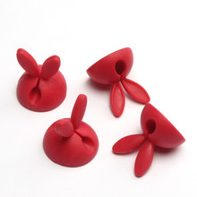 Feitong New Fashion 4pc Cute Rabbit ears Cable Wire Organizer Bobbin Winder Wrap Cord Office Solid Tool Free Shipping(China (Mainland))