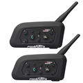 Fodsports 2016 New 2 pcs V6 Motorcycle Helmet Bluetooth Headset Intercom 6 Riders 1200M Wireless Intercomunicador