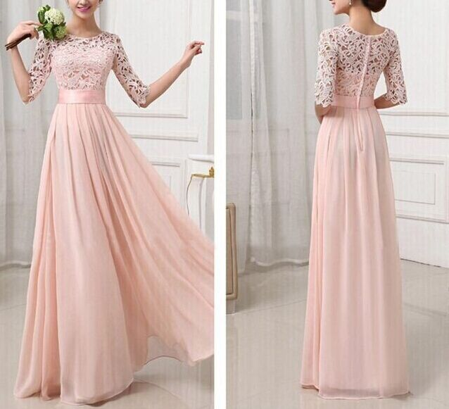 Women summer chiffon maxi dress wedding party long evening for Summer dresses for wedding party