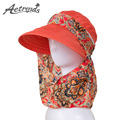AETRENDS 2017 New Ladies Hats Wide Brim Sun Hat Women UV Protection Summer Cap Floral