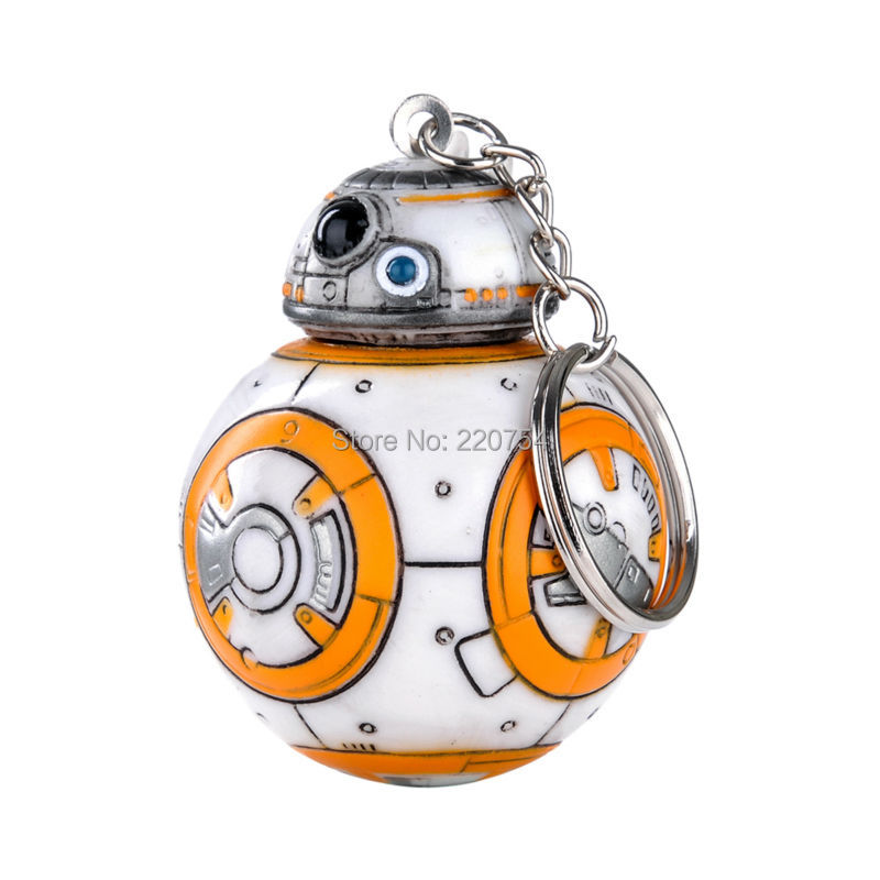 1PC 2.2inch Star Wars The Force Awakens BB8 BB-8 R2D2 Droid Robot Action Figure stormtrooper Clone Trooper Strap New year toys