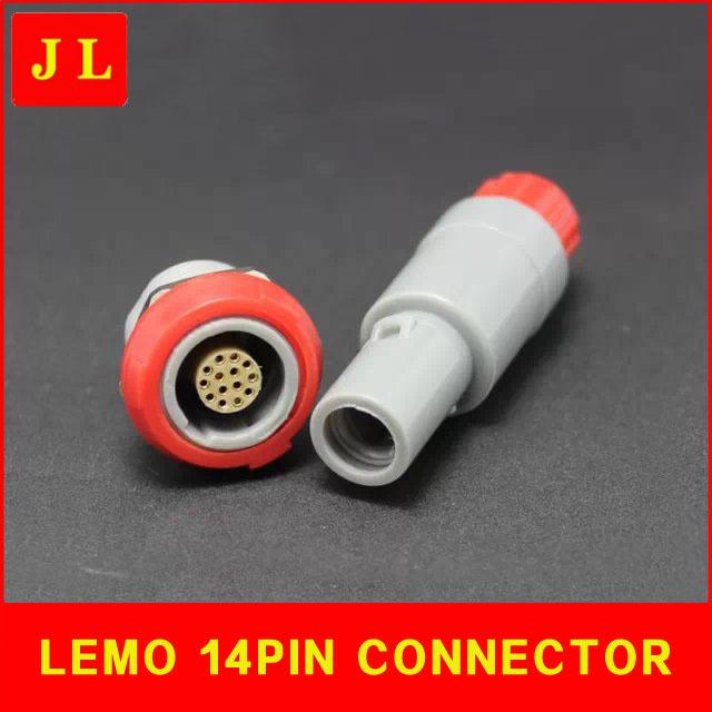 LEMO self-locking plug 14-pin connector, circular plastic connectors, medical special connectors, air plugs(China (Mainland))