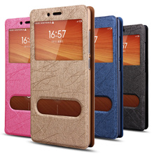 Luxury View Window Leather Case Phablet Cover For Xiaomi Redmi Note Free Shipping