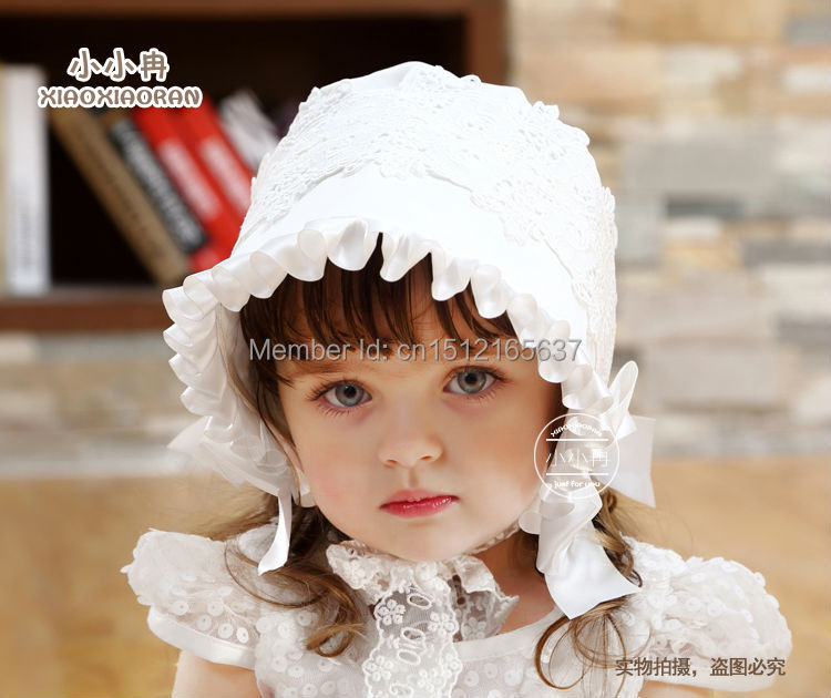 2016 Graceful Quality Girls Lace Cap Princess Hat Baby Kids Bonnet Factory Price Direct Selling Custom Made - My Handmade store