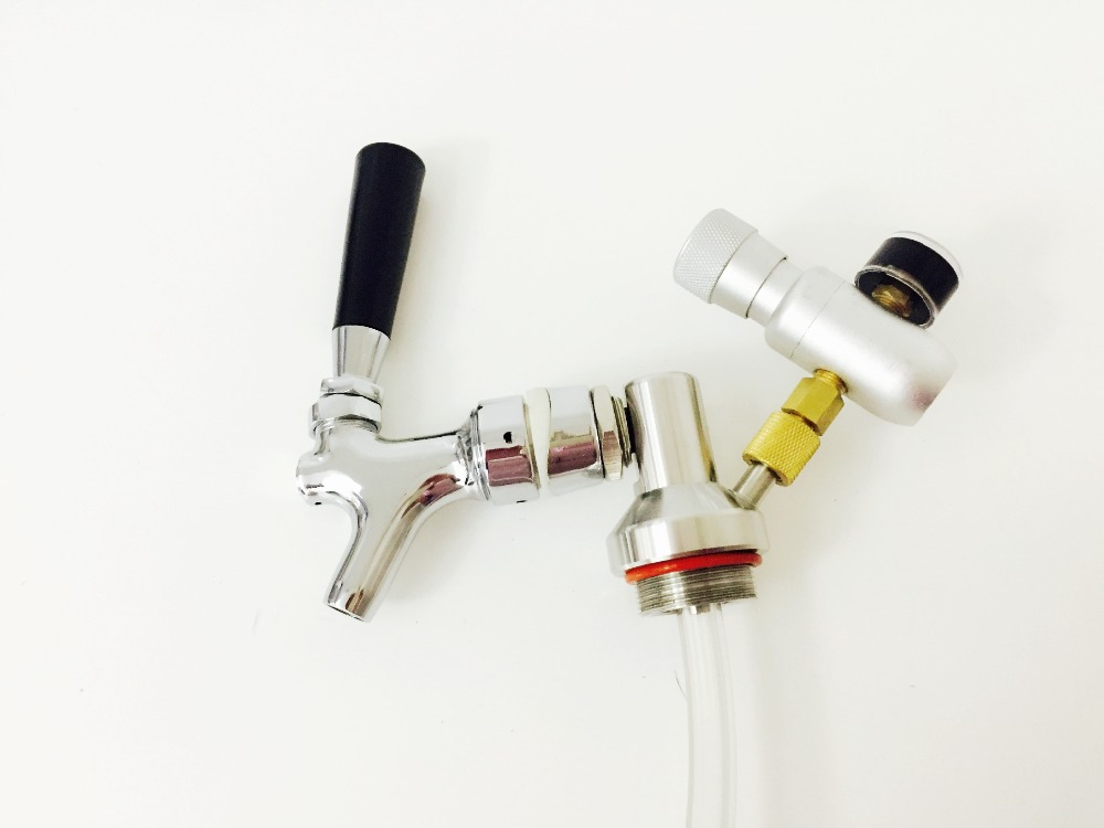 2L mini growler spears Beer Spear With Tap Faucet with CO2 Injector Premium For Mini Keg Beer Growler Just Fit For Our Mini Keg(China (Mainland))