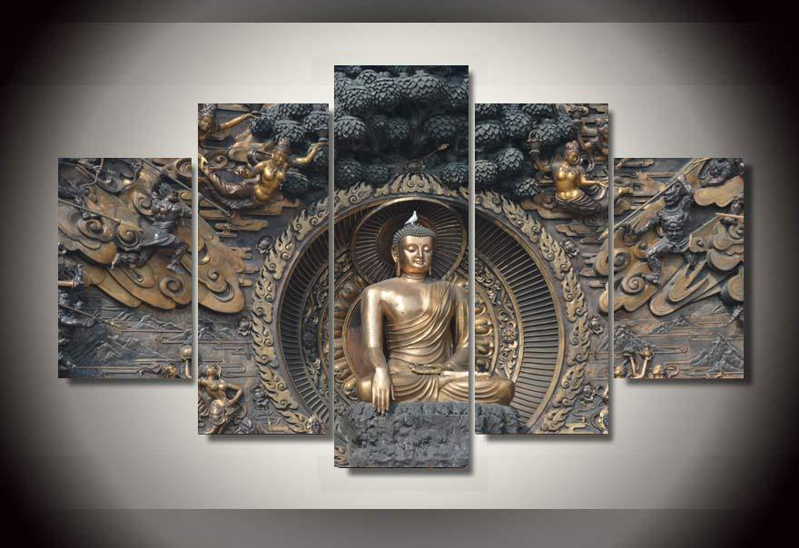 2015 ready to hang art buddha statue painting wall art room decor print poster picture canvas