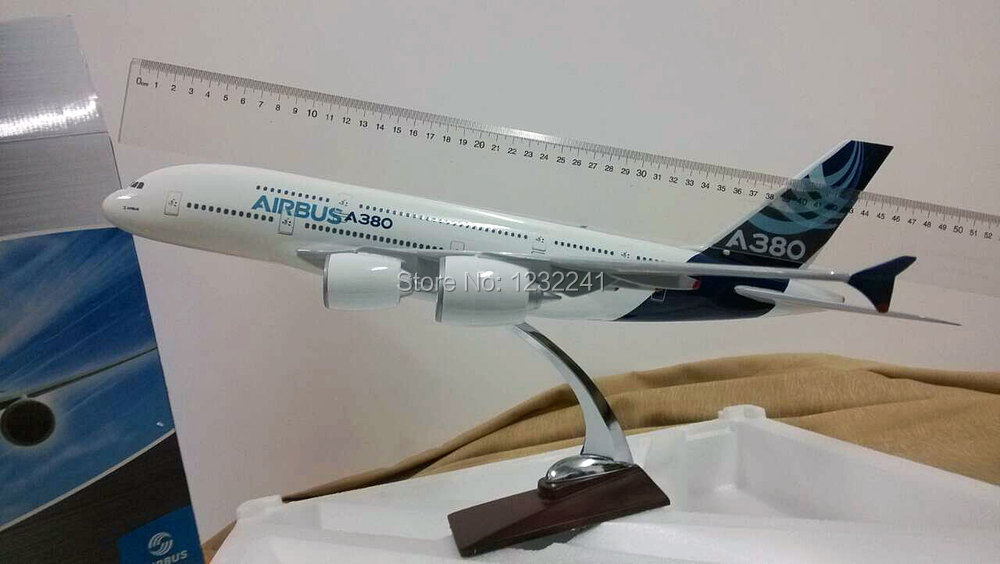 100% New A380 Airbus airplane models,45cm High Quality metal airlines plane model wholesale, airbus prototype machine(China (Mainland))