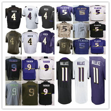 2016 #4 Sam Koch,#5 Joe Flacco,#9 Justin Tucker,#11 Mike Wallace men women youth kids Jerseys White purple black elite M-4XL(China (Mainland))