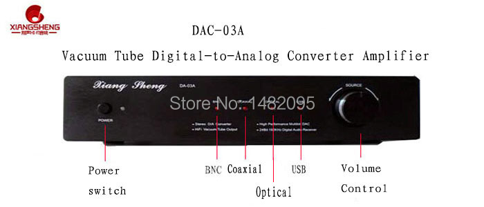 DAC-03A TE7022L XMOS U8 usb/optical/coaxial D/A converter - Love Amplifier store