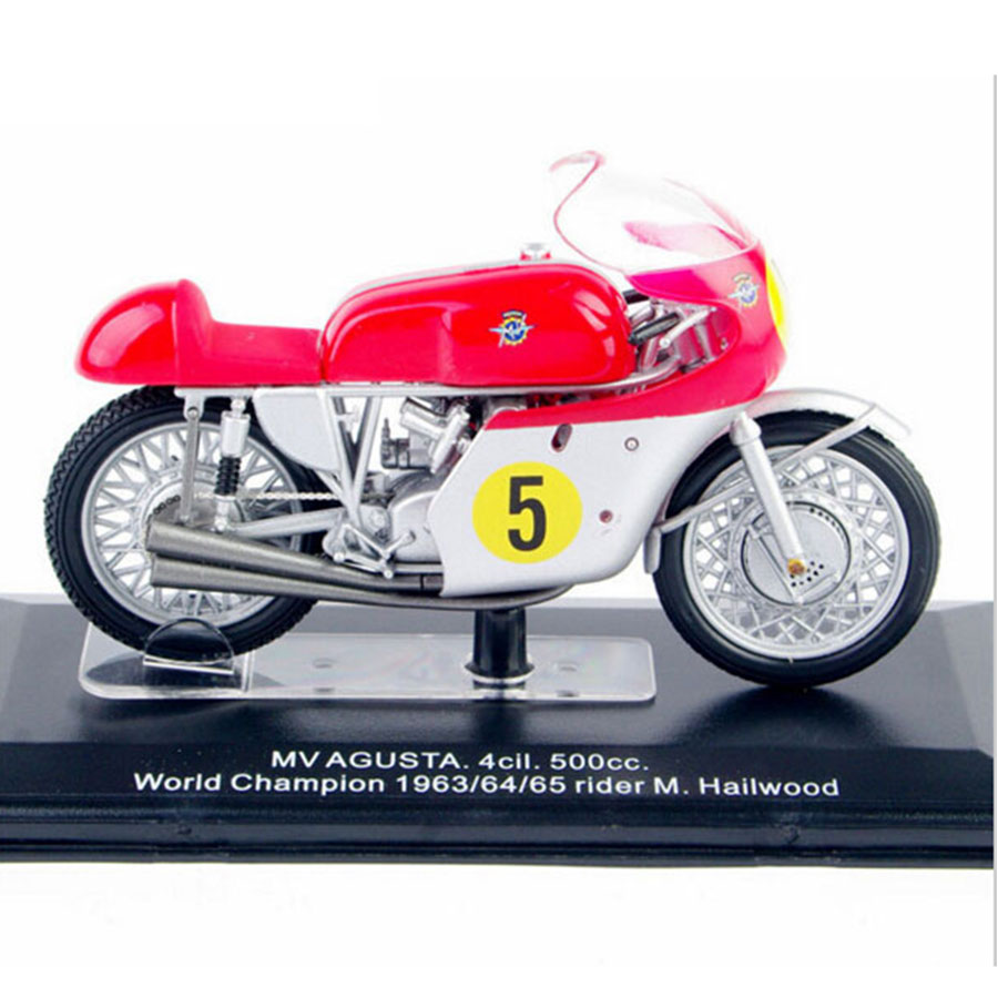 2016 New 1/22 Diecast Motorcycles Model MV AGUSTA 4cil.500cc. World Champion 1963/64/65 Rider M.Hailwood Italeri Model Hobbies A(China (Mainland))