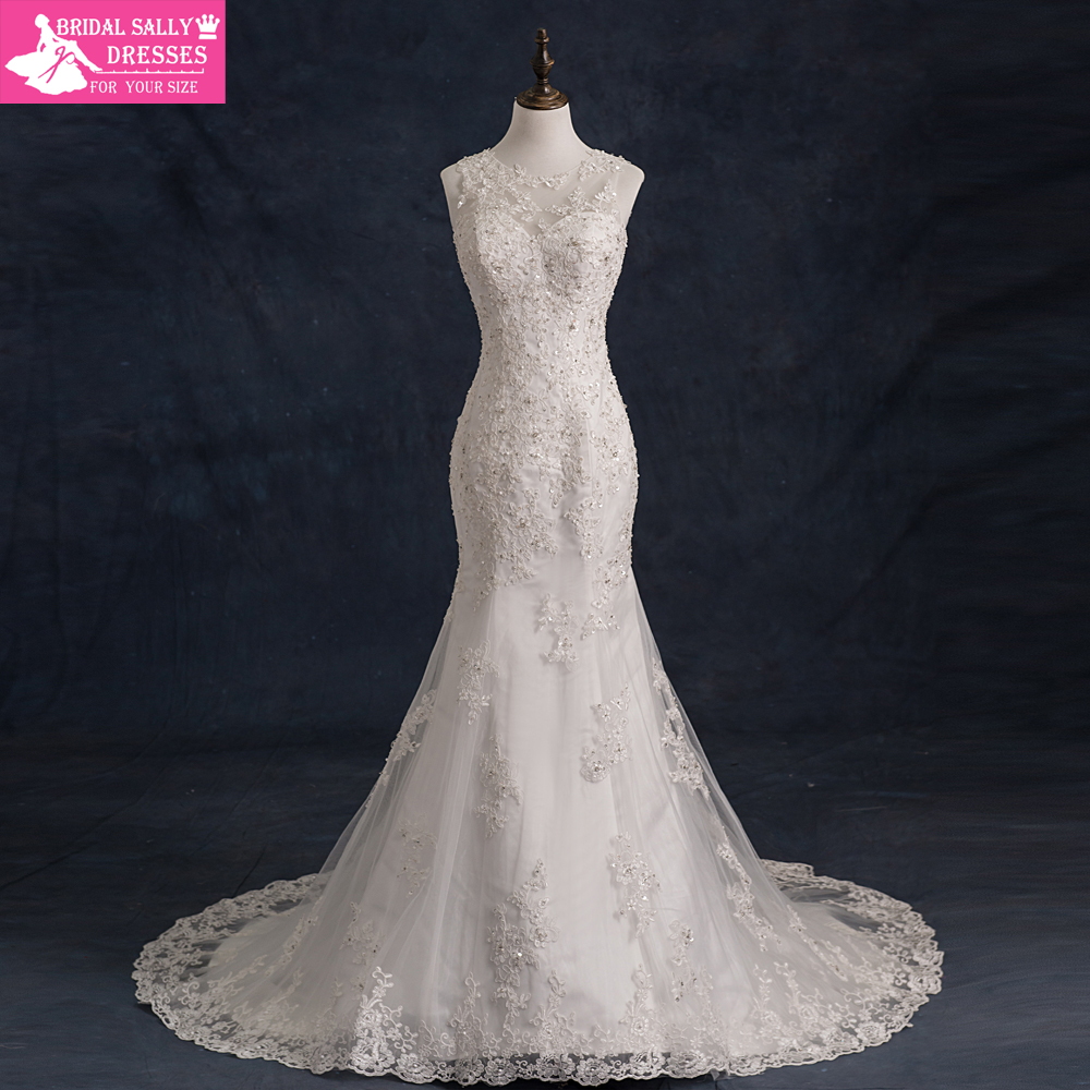 Buy 2016 mermaid wedding dresses real for Aliexpress mermaid wedding dresses