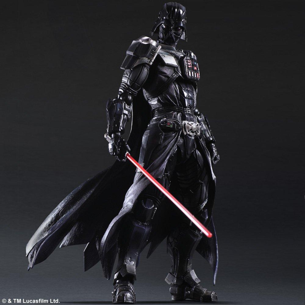 26cm PVC PLAY ARTS kai Star Wars Darth Vader Action Figure Toys Anakin Skywalker Collection Model Brinquedos Dark Warrior(China (Mainland))