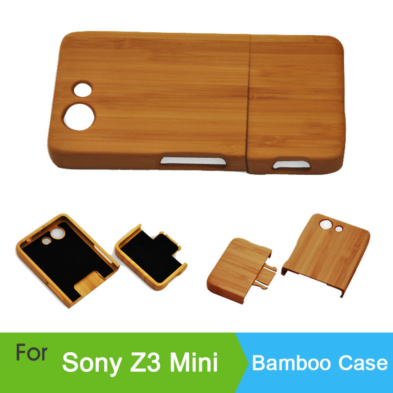 Sony Xperia Z3 Compact Mini M55W Genuine Natural Bamboo Wood Wooden Back Cover Battery Door cover Cases mini - HK GX-Tech Co.,Ltd store