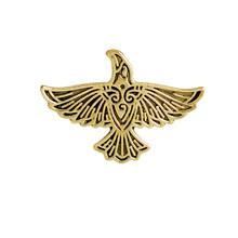 ヴィンテージ動物飛行鳥スリヴァーとゴールドスプレッド翼中世ラペルエナメルピンバッジバイキングジュエリー北欧神話ブロー(China)